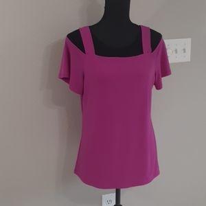 INC Ladies Pink Cold Shoulder Tunic Size Medium